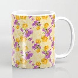 Cosmos and Rose Pattern Coffee Mug