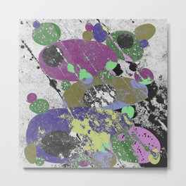 Stack Em Up! - Abstract, textured, pastel coloured artwork Metal Print