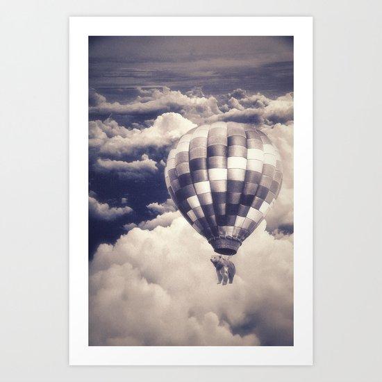 Balloon Bear Art Print