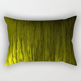 Bright texture of shiny foil of yellow flowing waves on a dark fabric. Rectangular Pillow