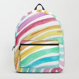 Pastel Watercolour Rainbow art Backpack