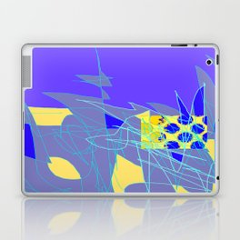 Yellow Square Hatchling  Blue-purple  Abstract Laptop & iPad Skin