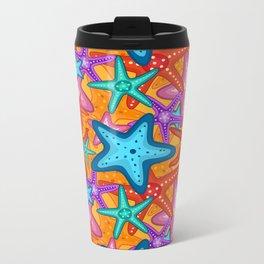 Starfish Pattern Design 2 Metal Travel Mug