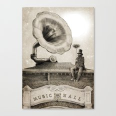 The Chimney Sweep (Monochrome) Canvas Print