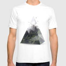 Forest triangle White Mens Fitted Tee X-LARGE