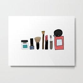 Just A Little Make-Up Metal Print
