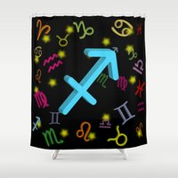 sagittarius Shower Curtains featuring Sagittarius by The Image Zone