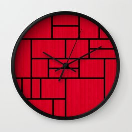 Mondrian Bauhaus Pattern #10 Wall Clock