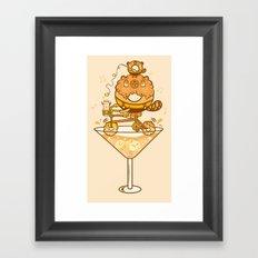 donut biker Framed Art Print