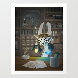 The Lair of the Dark Bunny Art Print
