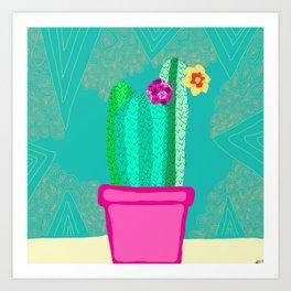 The Trio Cactus Plant Art Print