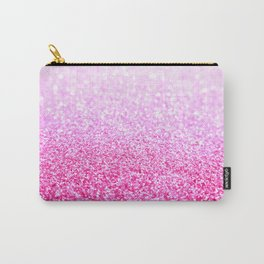 Pink Lavender Sparkle Glitter Carry-All Pouch
