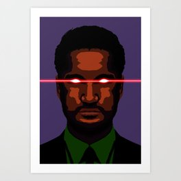 evil businessman  Art Print