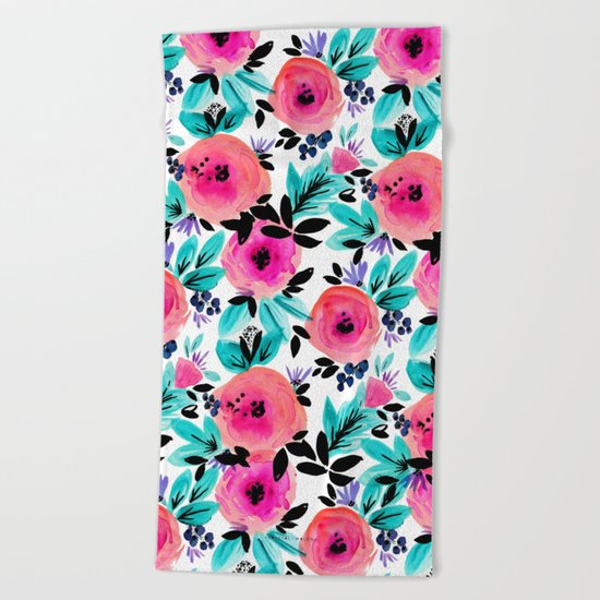 Savannah Flower Beach Towel