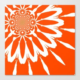 The Modern Flower Orange Canvas Print