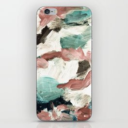 abstract painting VI - green & dusty pink iPhone Skin