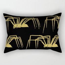 Spiders, Gold and Black (Halloween Set) Rectangular Pillow