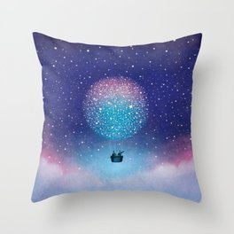 Stars Balloon Throw Pillow