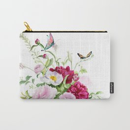 flowers with butterflies Carry-All Pouch