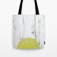 charmaine olivia Tote Bags featuring Olivia by The ArdentSparrow