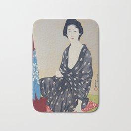 Woman in a Summer Garment by Hashiguchi Goyo, 1920 Bath Mat