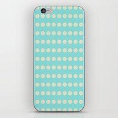 Circular Cyan Pattern iPhone & iPod Skin