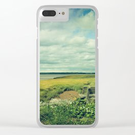 Bench at Newport Landing Clear iPhone Case