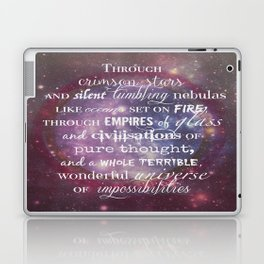 Dr Who Quotes Laptop & iPad Skin