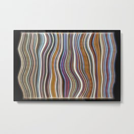 Mild Wavy Lines I Metal Print