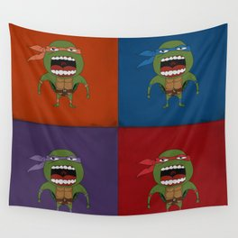 Screaming Turtles Wall Tapestry