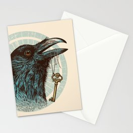 Raven's Head Stationery Cards