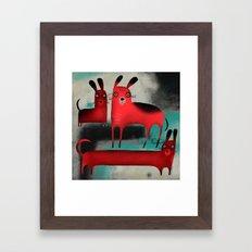 RED DOGS Framed Art Print