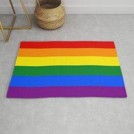 Rainbow Pride Flag Rug
