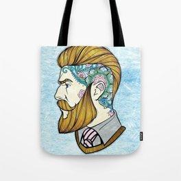 Hipster Man Tote Bag