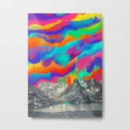 Skyfall, Melting Northern Lights Metal Print