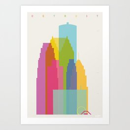 Shapes of Detroit Art Print