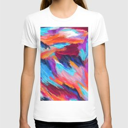 Bright Abstract Brushstrokes T-shirt