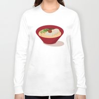 ramen Long Sleeve T-shirts featuring Ramen (Akamaru Chashu) by Hello Fever