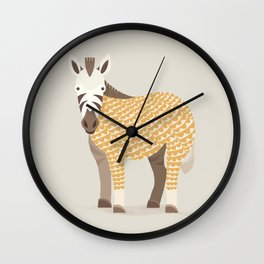 Whimsical Zebra Wall Clock