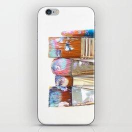 Five Paintbrushes Minimalist Photography iPhone Skin