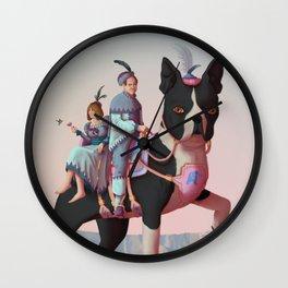 Boston Rider Wall Clock