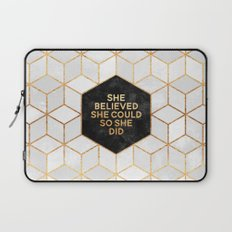 She believed she could so she did 2 Laptop Sleeve