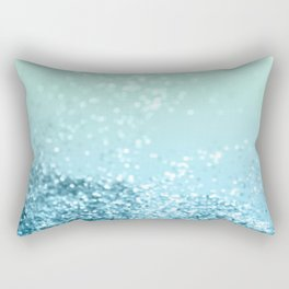 Seafoam Aqua Ocean MERMAID Girls Glitter #3 #shiny #decor #art #society6 Rectangular Pillow