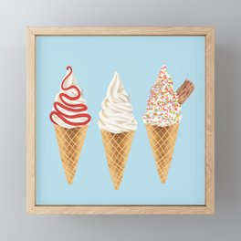 Ice Cream Framed Mini Art Print