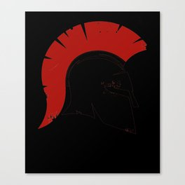 Spartan Greek Corinthian Helmet Canvas Print