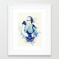 poker Framed Art Prints featuring Poker Face by Mibou