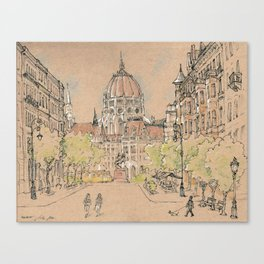 parlament of Hungary Canvas Print