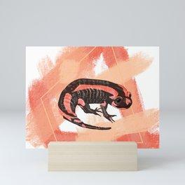 Fire Salamander Peach Mini Art Print