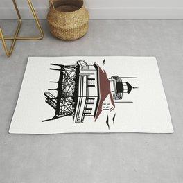 Lighthouse Drawing Illustration Rug