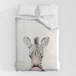 Bubble Gum Zebra Bettbezug
